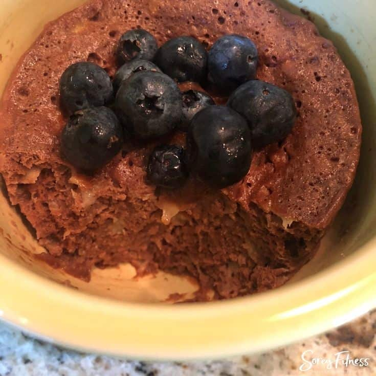 Cooked Chocolate Protein Mug Cake