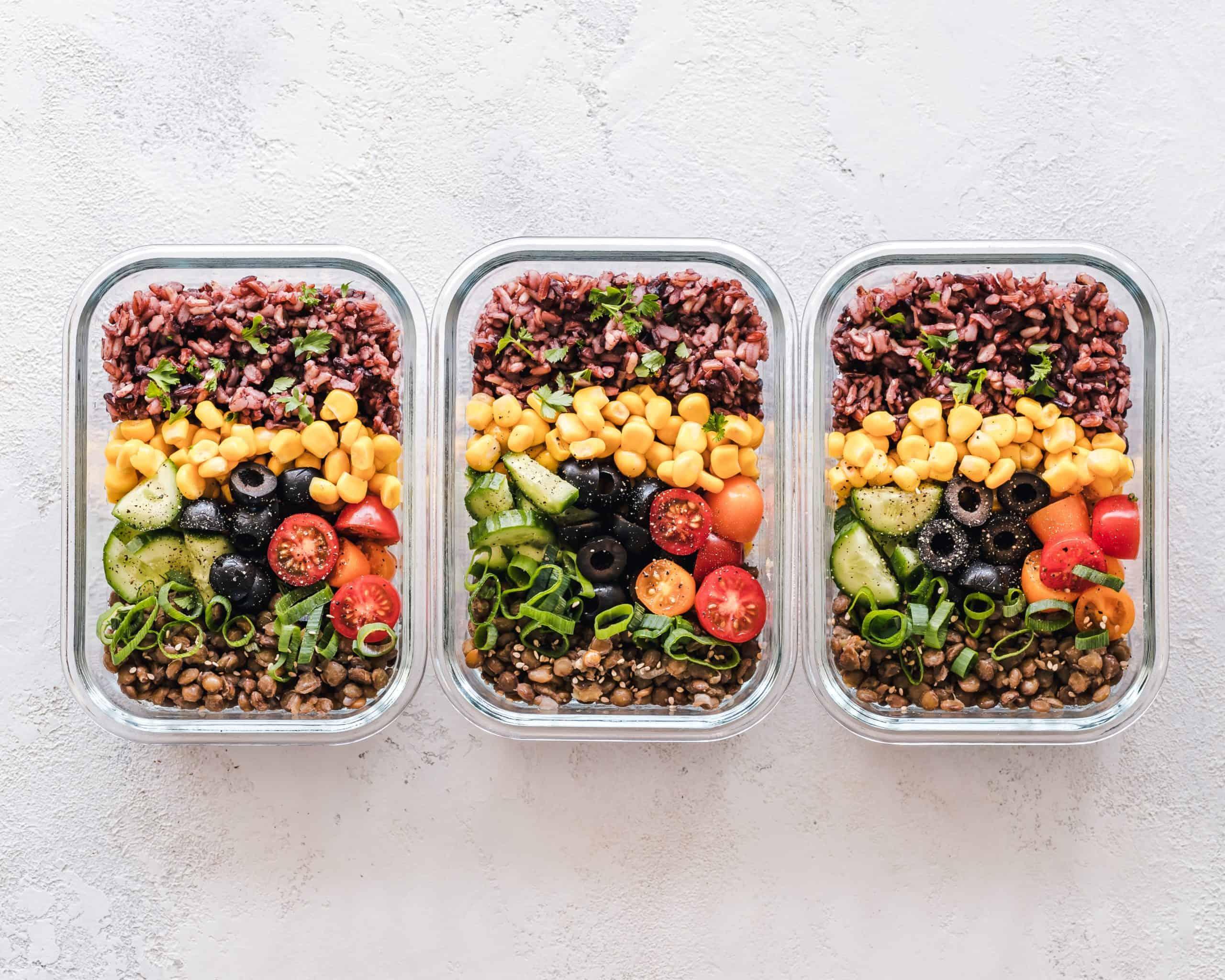 plant based meal prep bowls