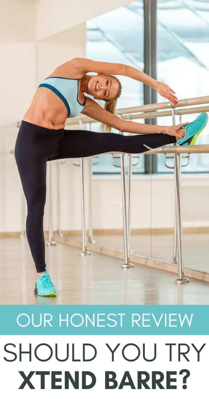 woman doing core work from the ballet barre