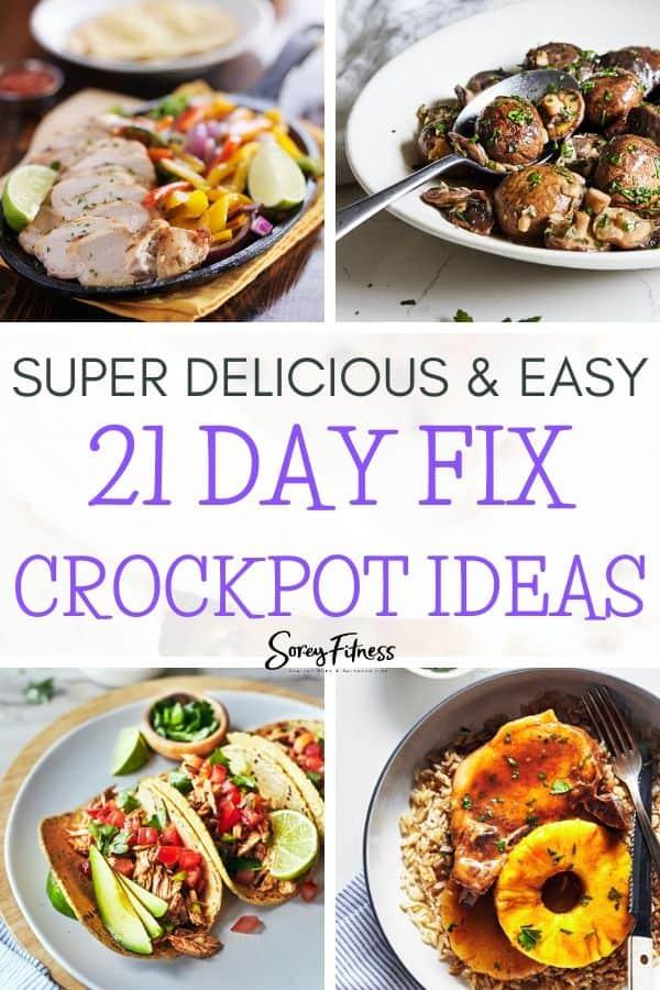 21 Day Fix Crockpot Recipes Collage