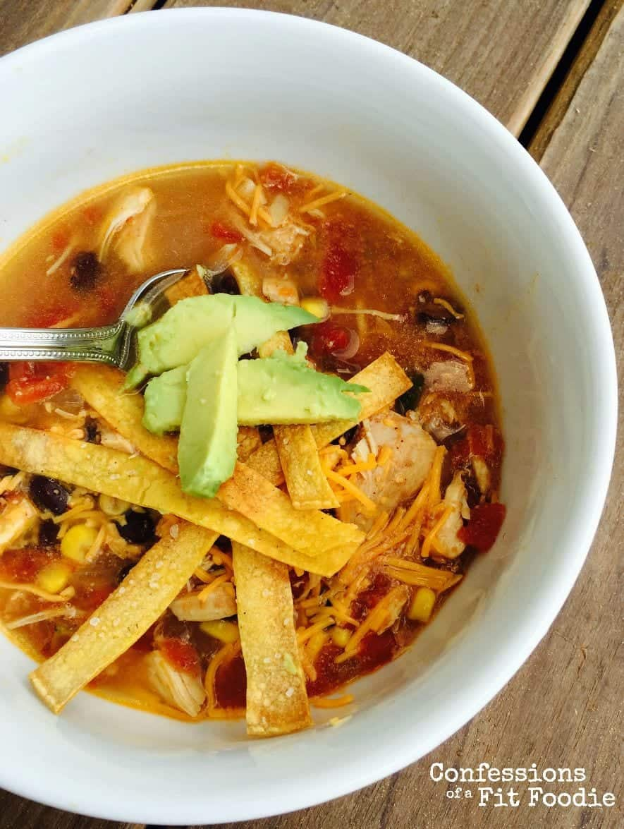 21 day fix tortilla soup in a bowl