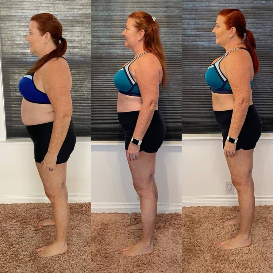 Kat's 9 week control freak before and after