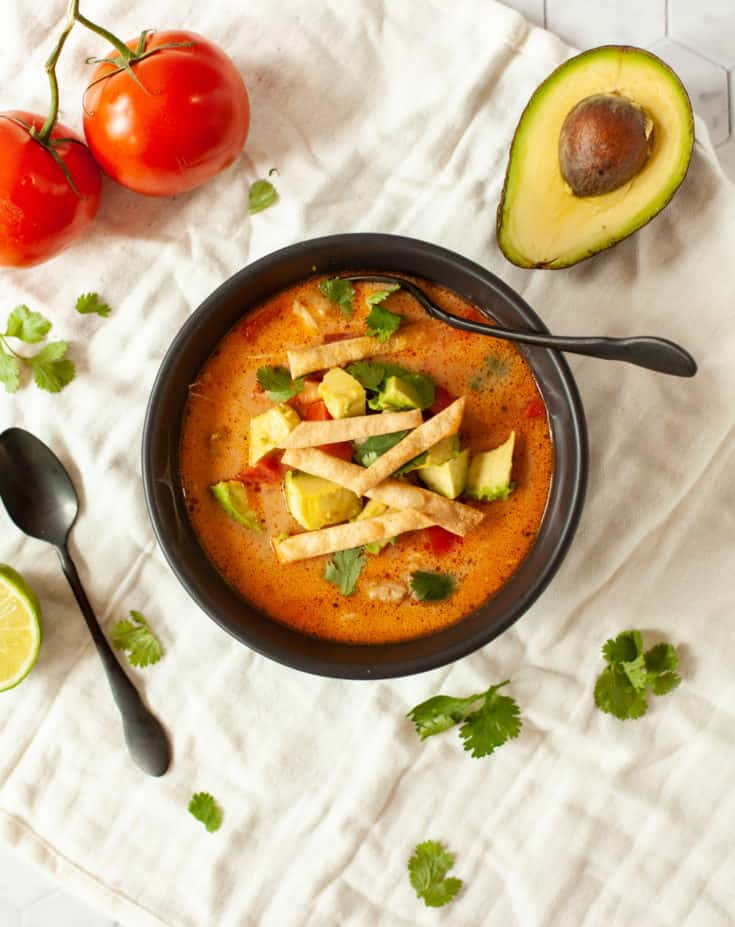 Keto Chicken Tortilla Soup (Instant Pot)