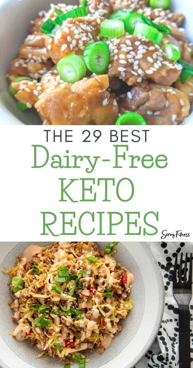 collage of 2 dairy free keto recipes