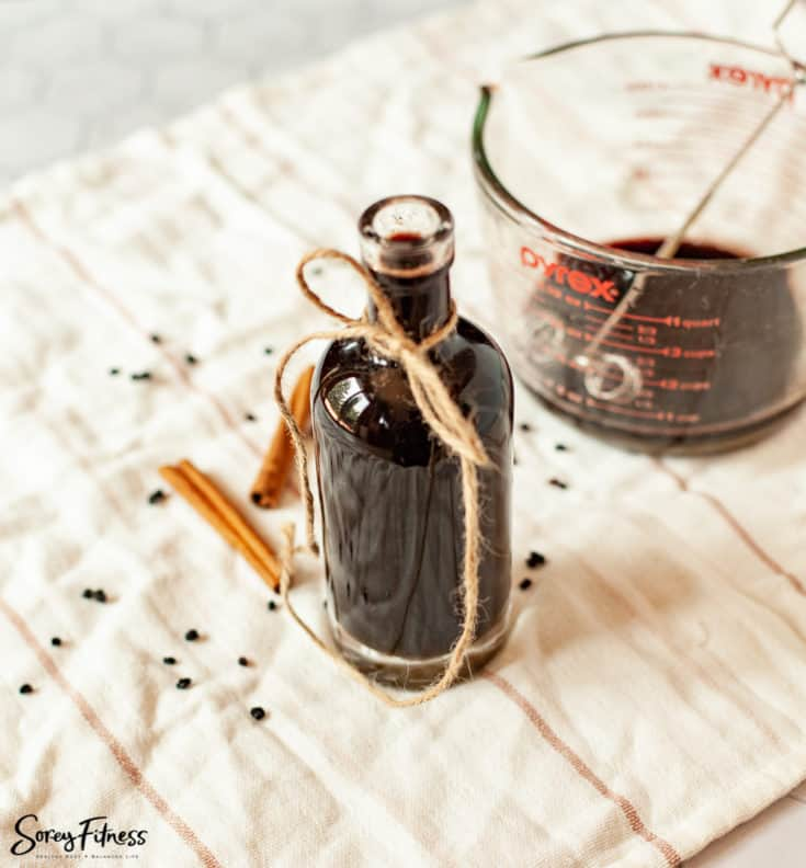 Elderberry Syrup with Turmeric, Honey & Cinnamon