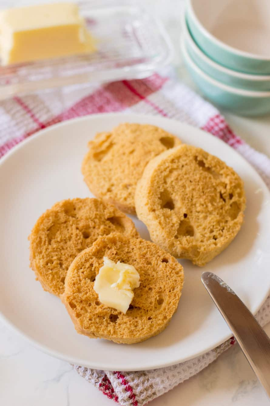 keto english muffins with butter