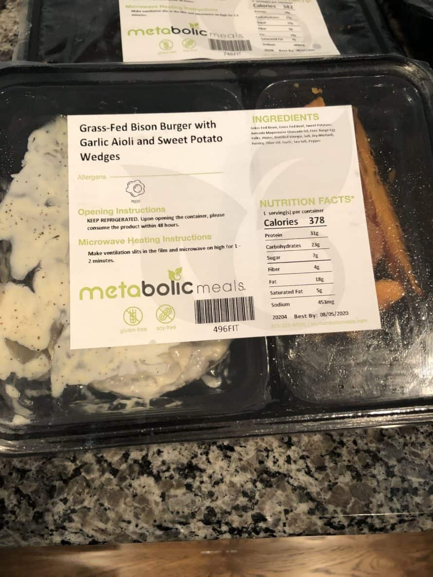 metabolic meals package