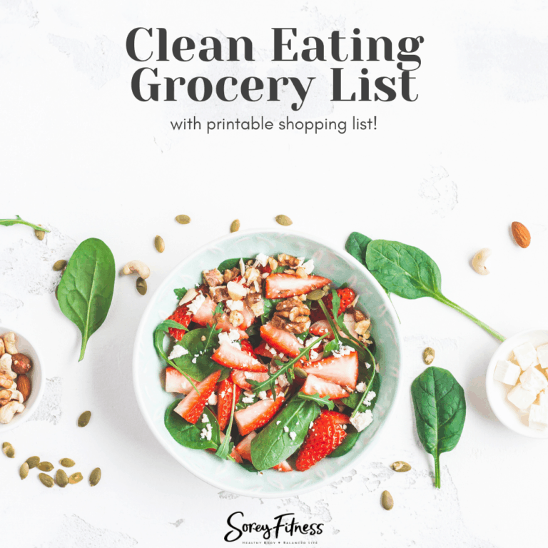 Clean Eating Grocery List (with Printable List!)