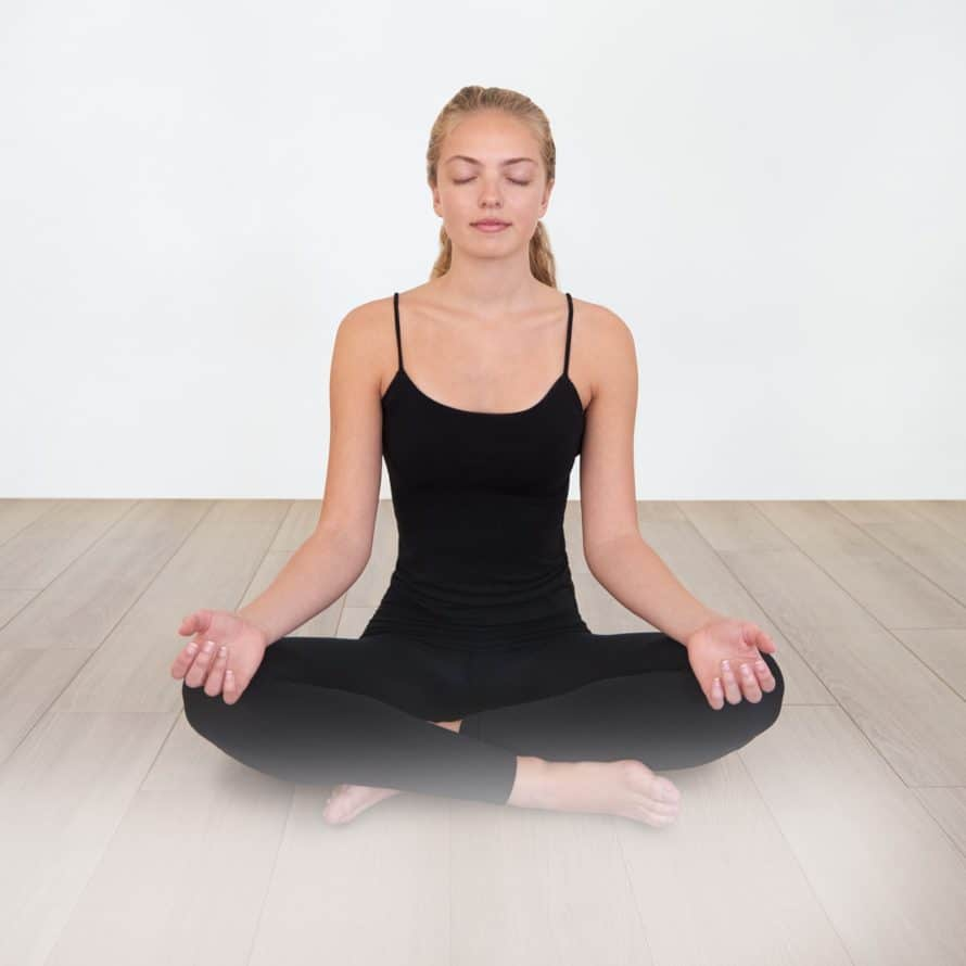 cross legged comfortable position to meditate