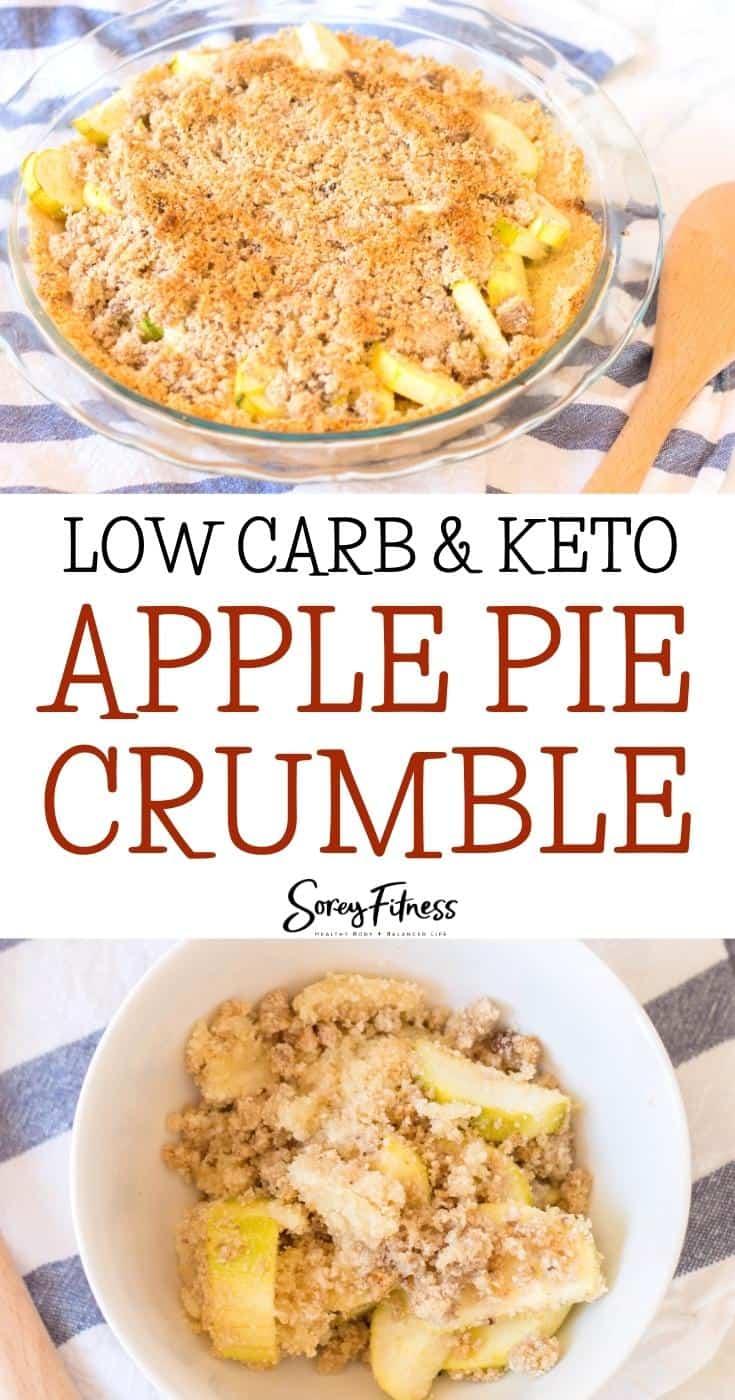 keto apple pie crumble collage