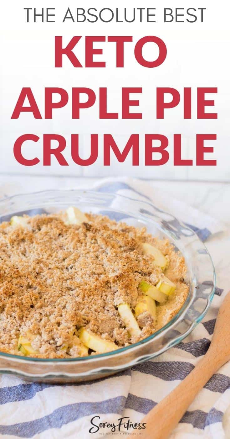 the best easy keto apple pie crumble
