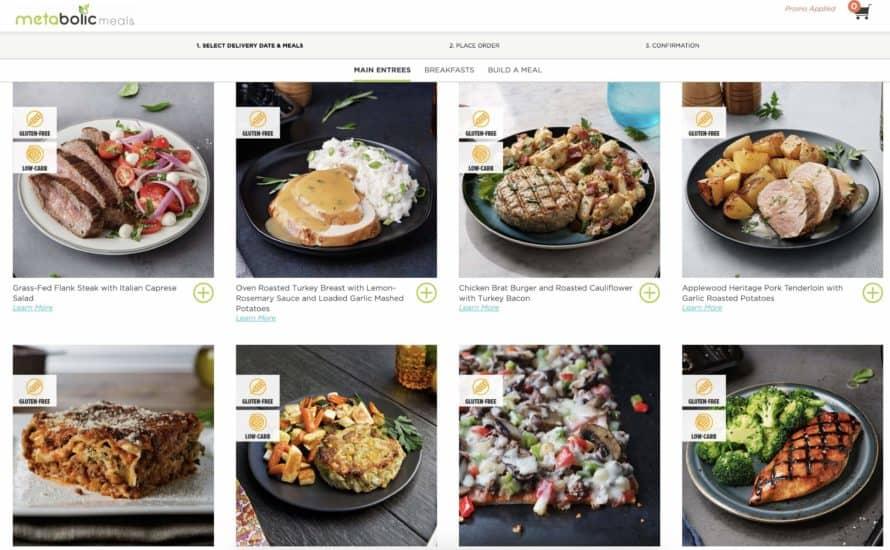 metabolic meals menu