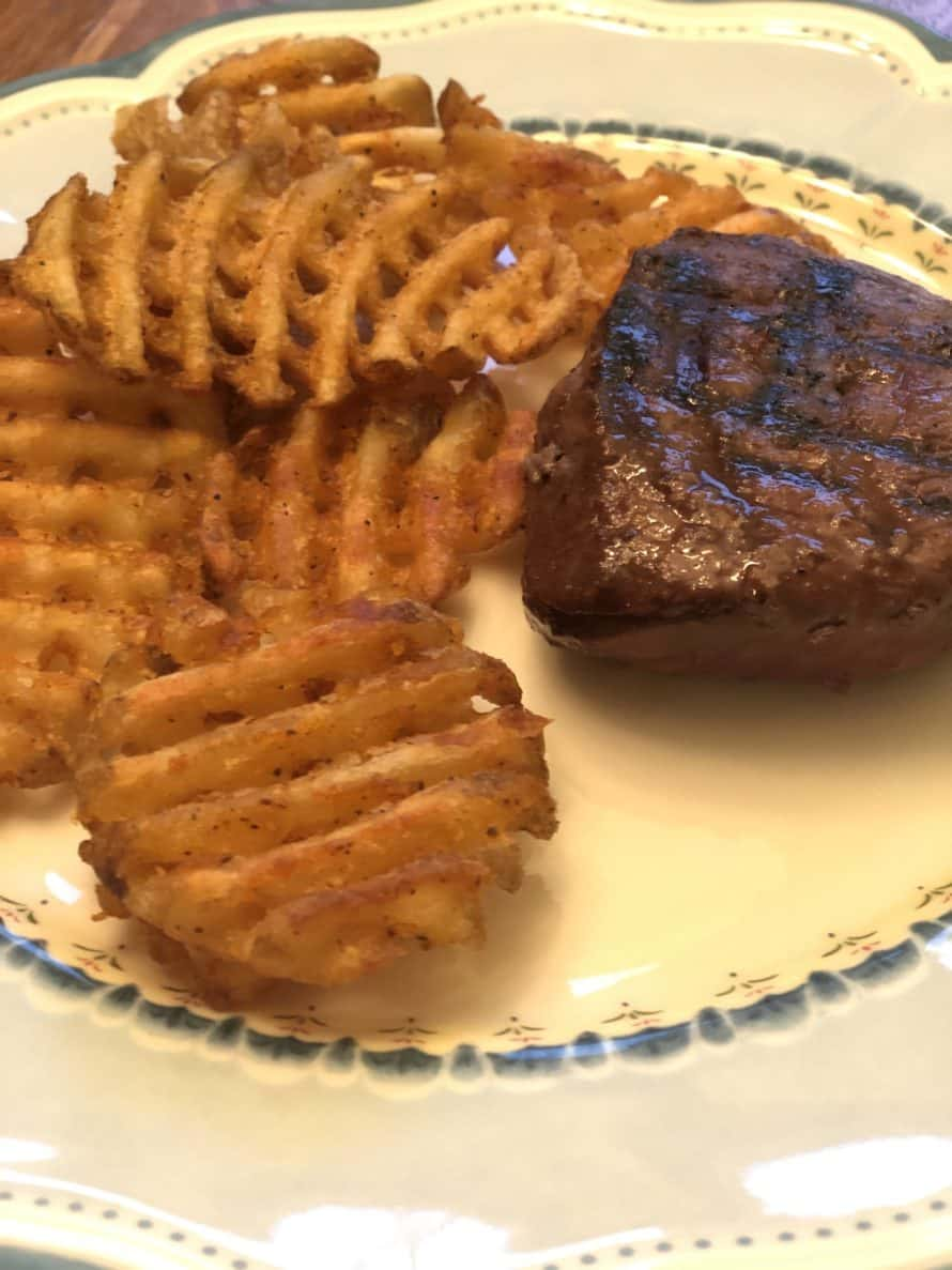 sirloin with waffle fries