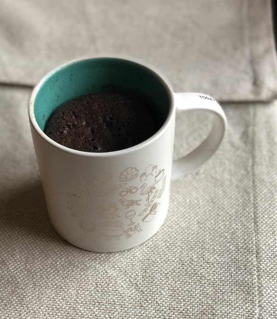 Shakeology Mug Cake in the mug