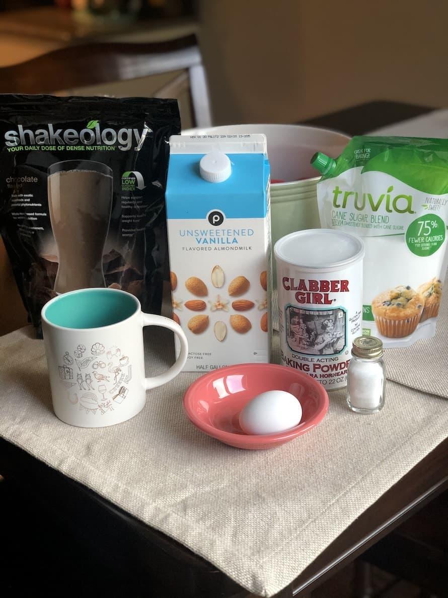Shakeology Mug Cake Ingredients