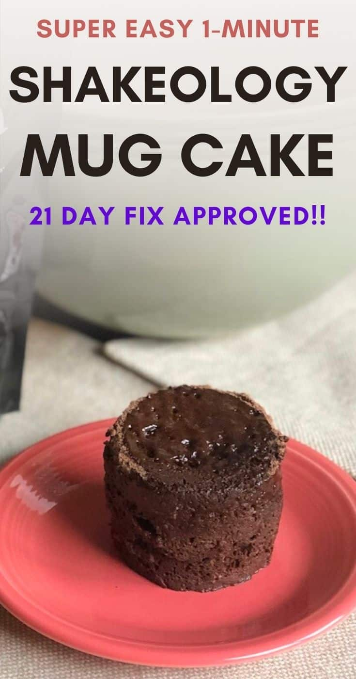 21 day fix approved Shakeology mug cake