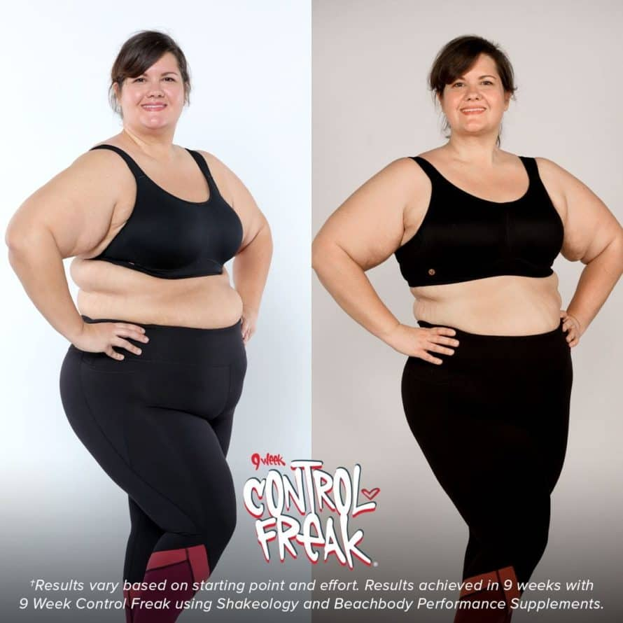 9 week control freak before and after picture