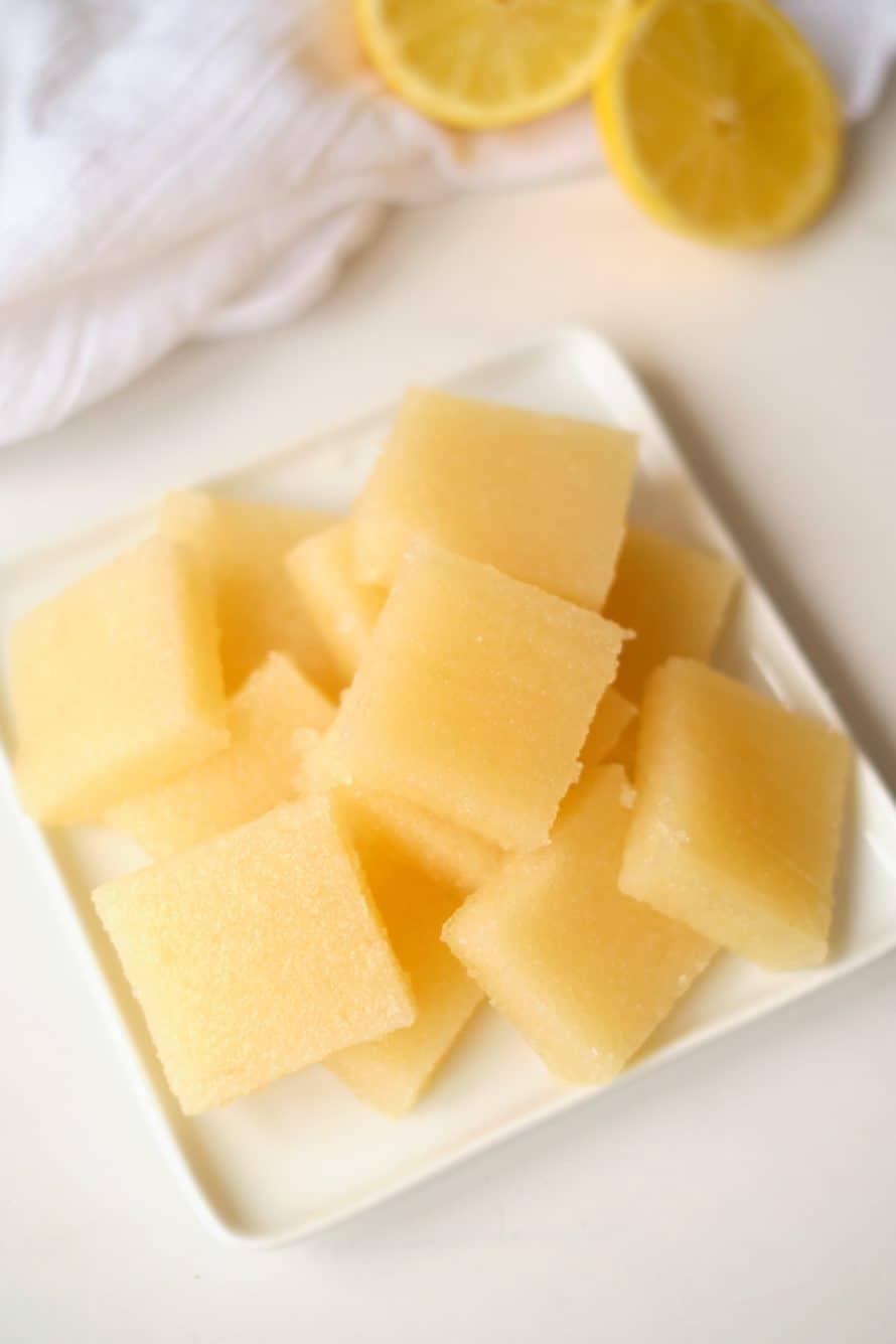 pile of DIY Lemon Ginger Chews