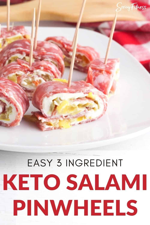 easy 3 ingredient keto salami roll ups