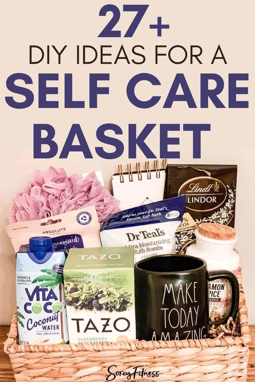 finished diy self care gift basket
