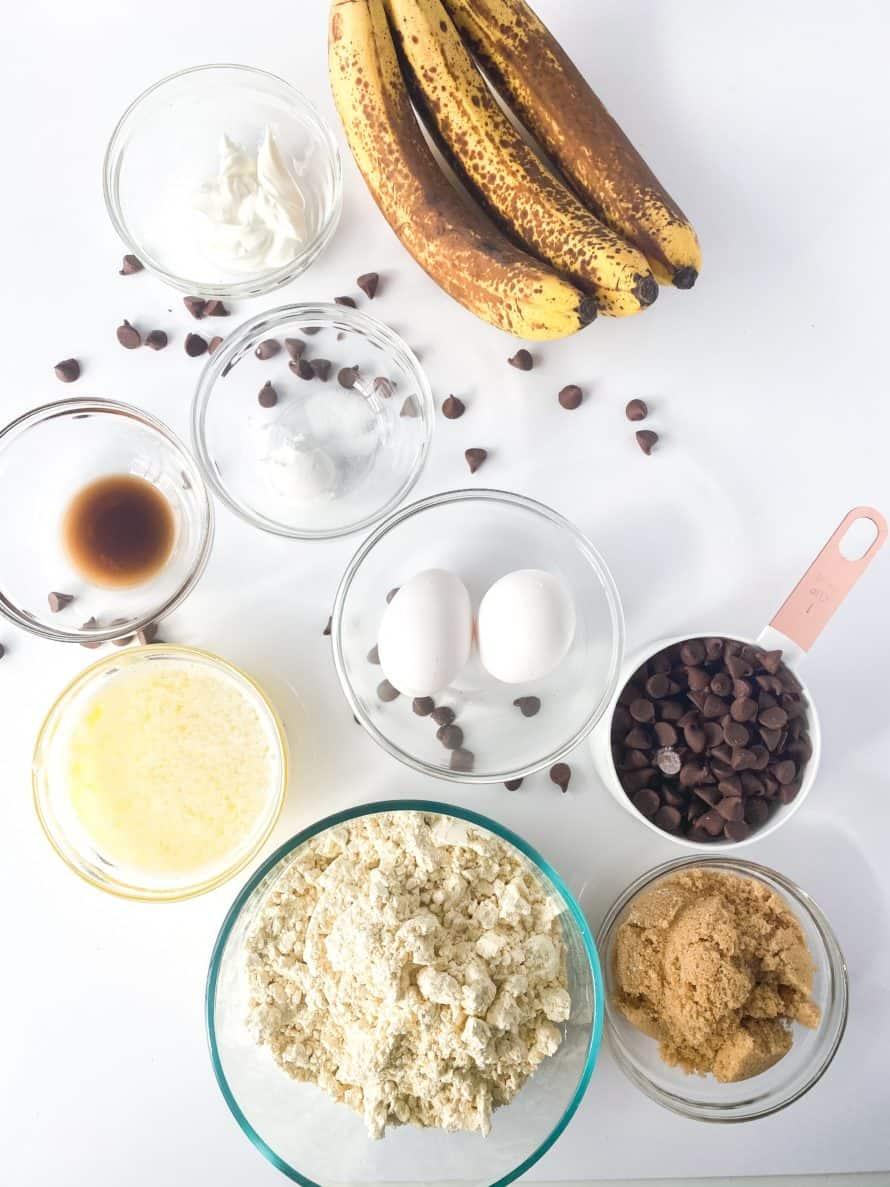 1 Bowl Banana Chocolate Chip Muffin Ingredients