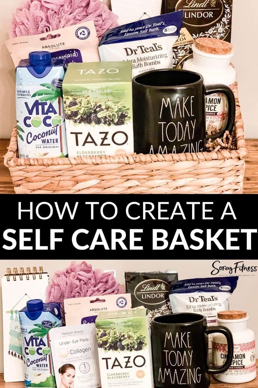 assembled DIY Self Care Basket