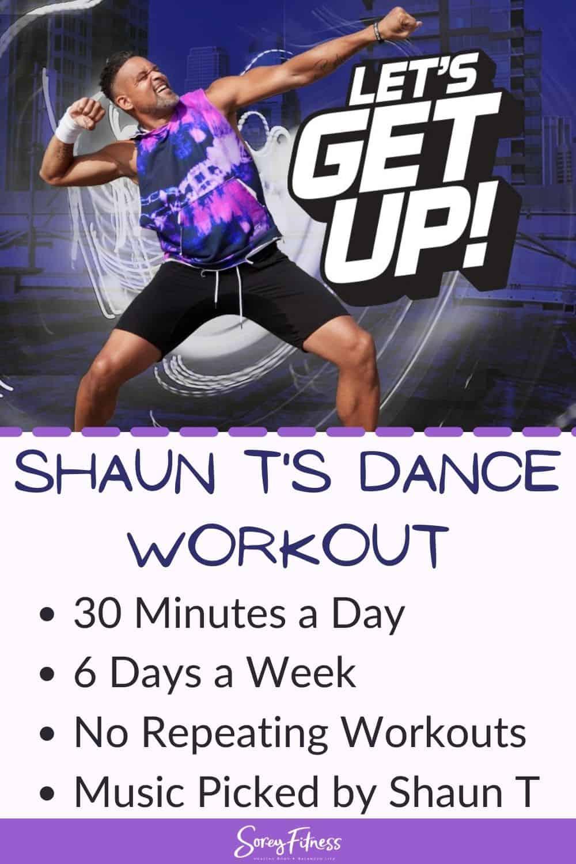 shaun t dance workout lets get up details summarized