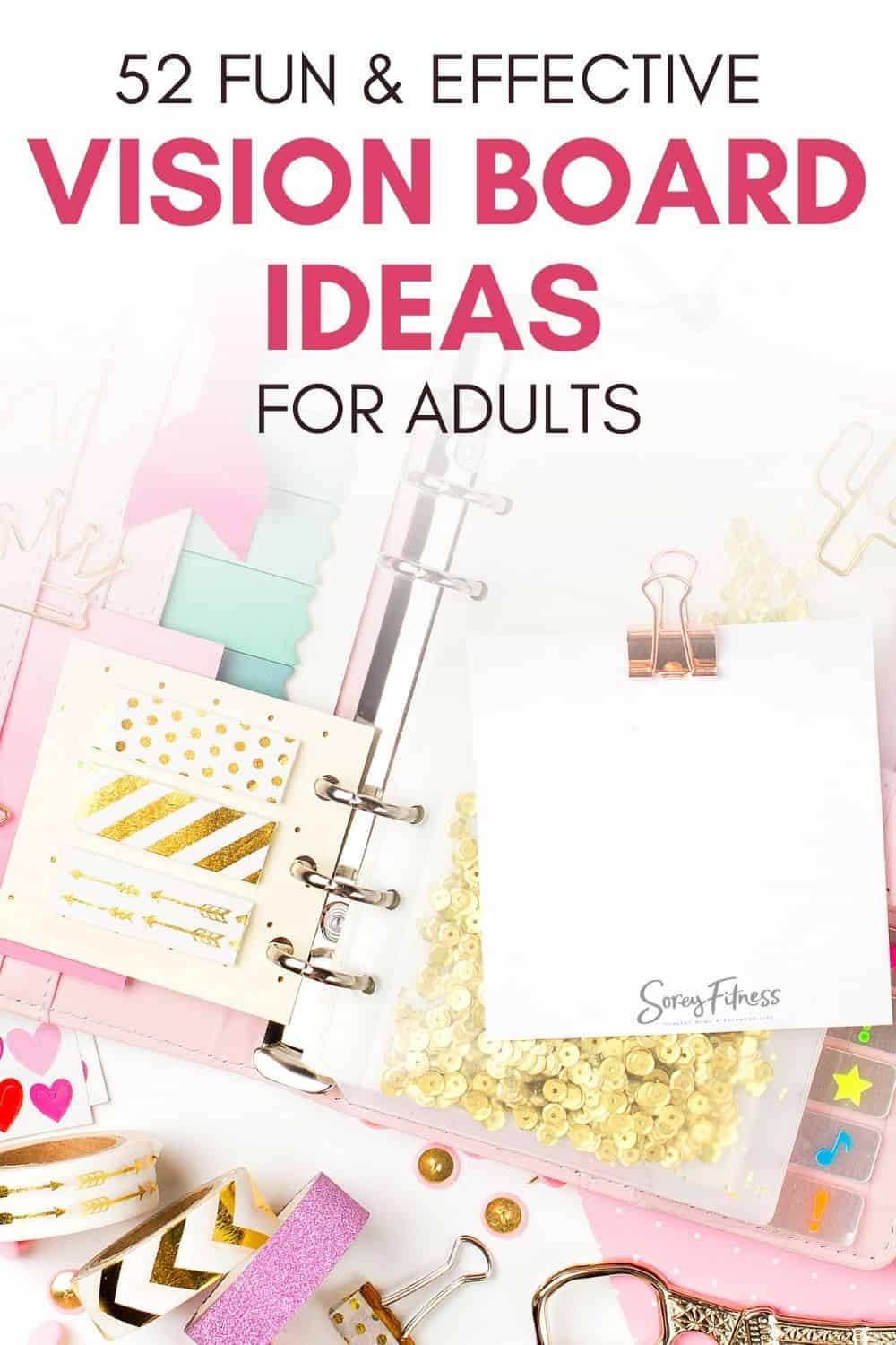 craft materials with the works 52 fun & effective vision board ideas for adults