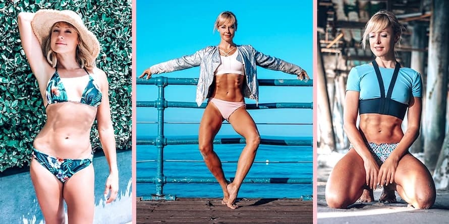 Collage of pictures of Elise Joan from Barre Blend