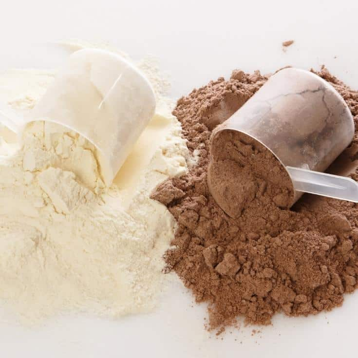 vanilla and chocolate protein powder
