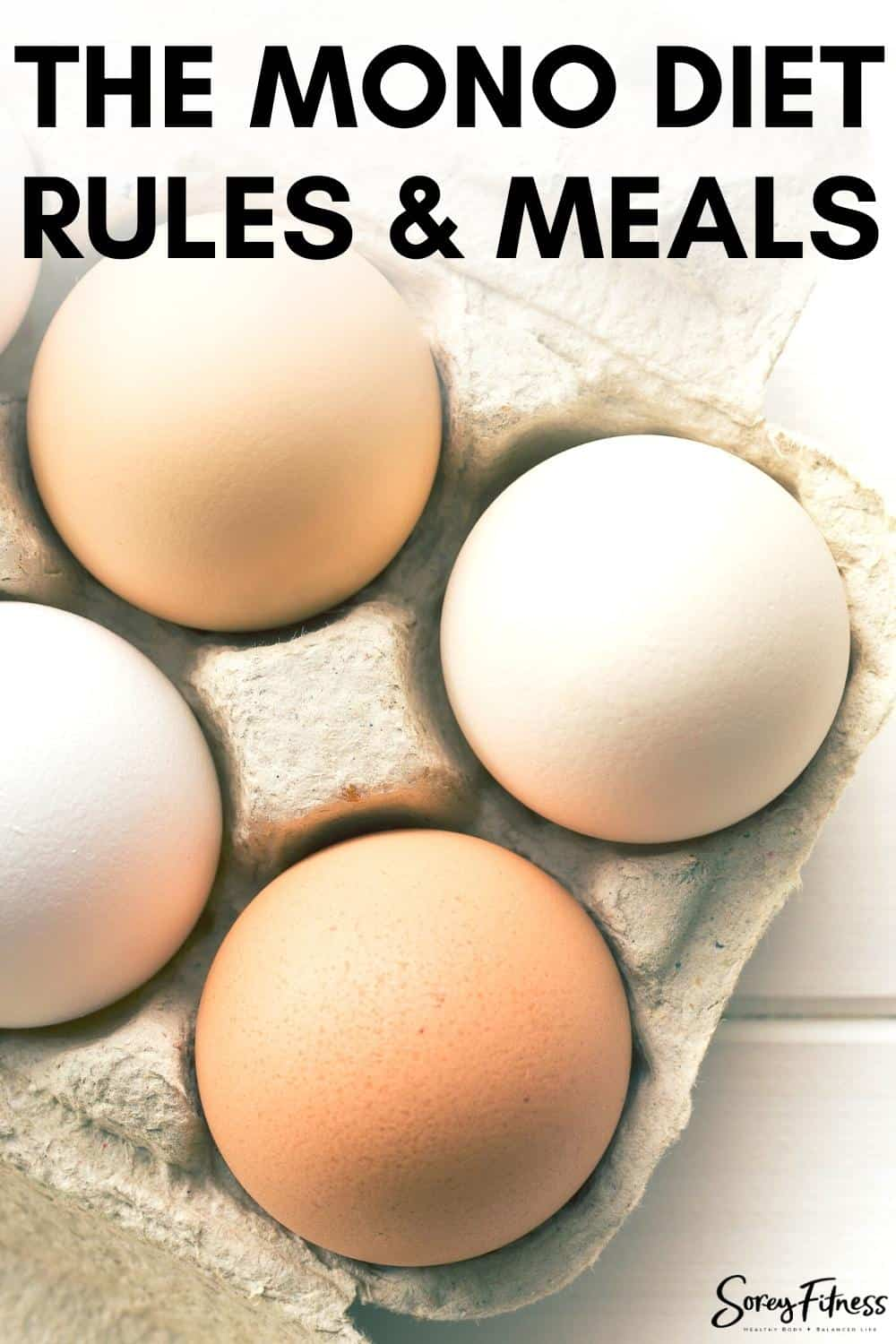 the mono diet rules and meals with a picture of eggs