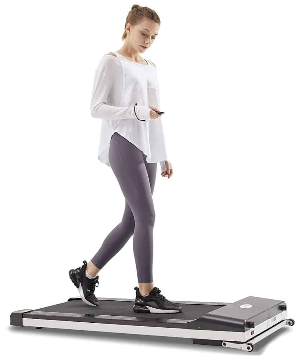 Roll over image to zoom in UMAY Portable Treadmill with Foldable Wheels