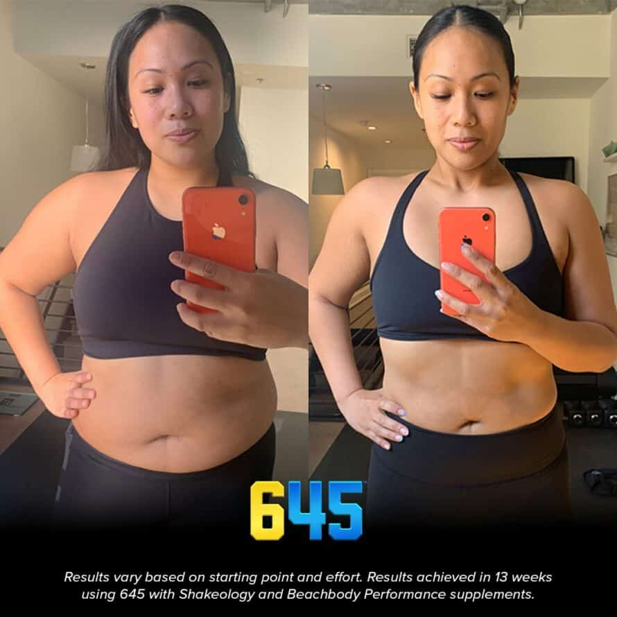645 workout results woman