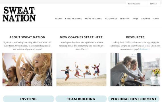 sweat nation beachbody coach training website