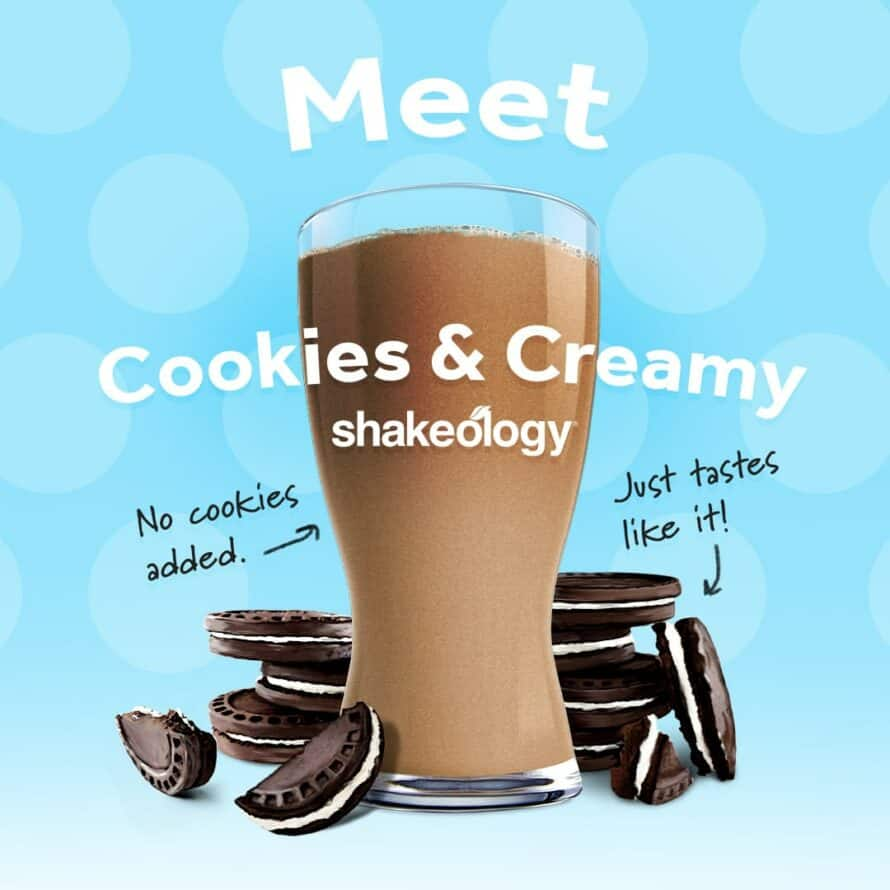 Cookies and Creamy Shakeology annoucement