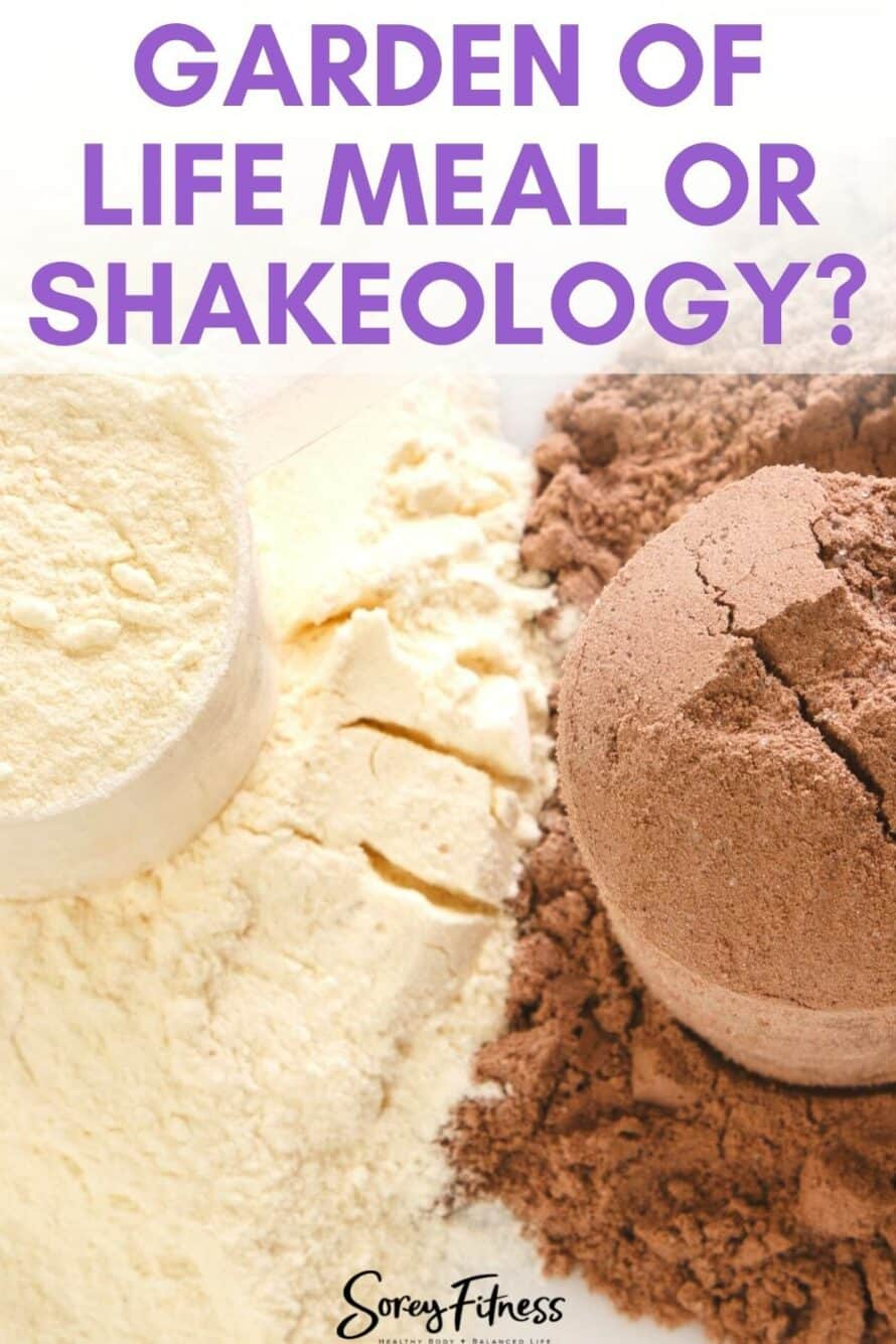 Shakeology vs Garden of Life's RAW Meal
