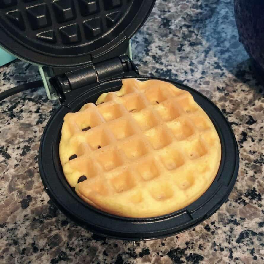 keto wonder bread chaffle in the waffle maker