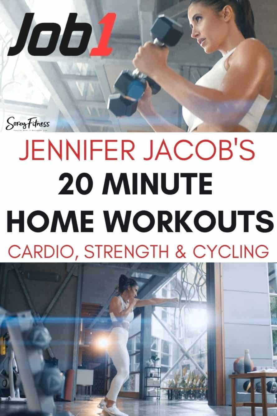 Jennifer Jacobs JOB1 Workout Review Promo Pin