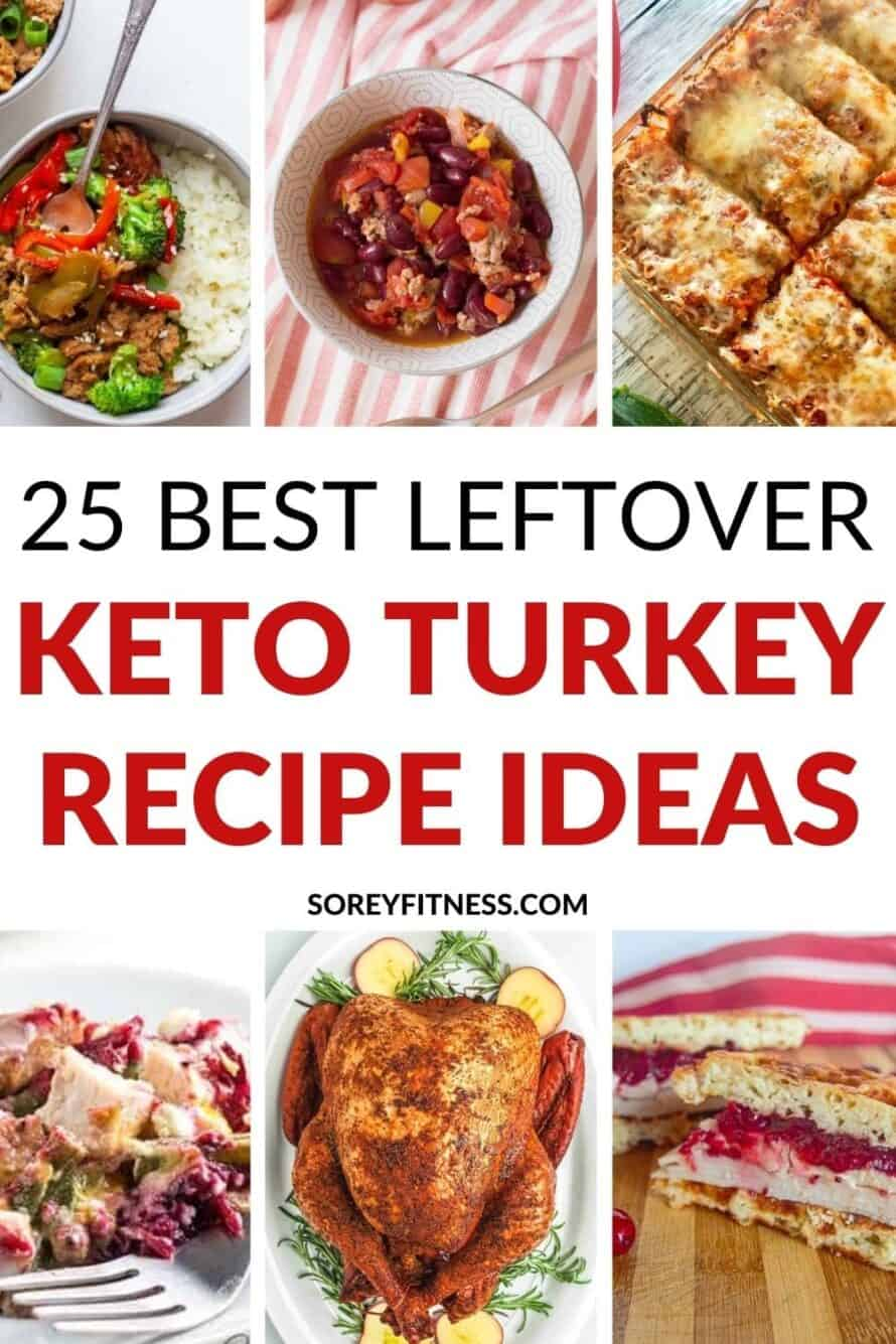 Best leftover Keto Turkey Recipes collage