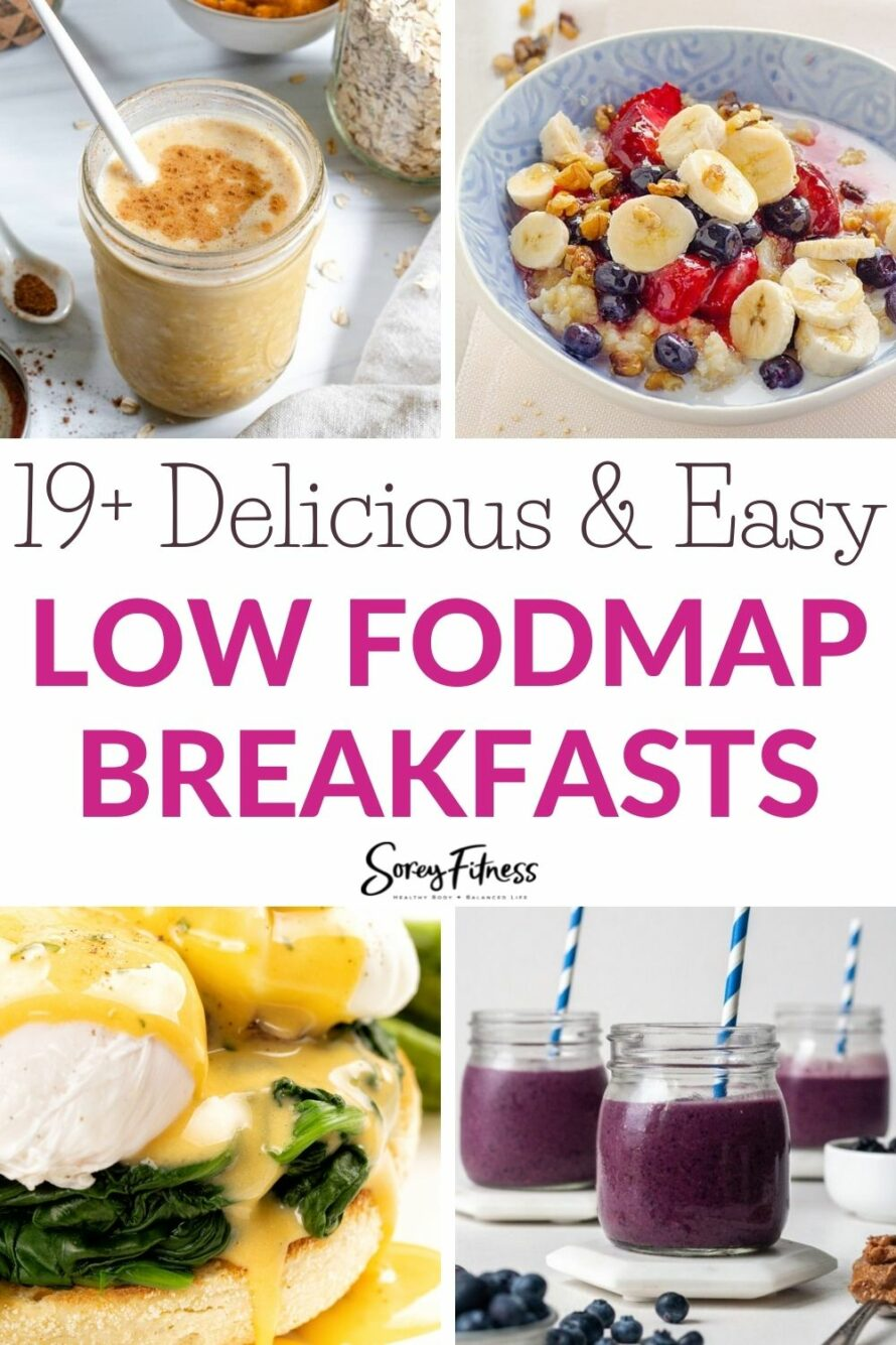 collage of 4 Low FODMAP Breakfast Recipes